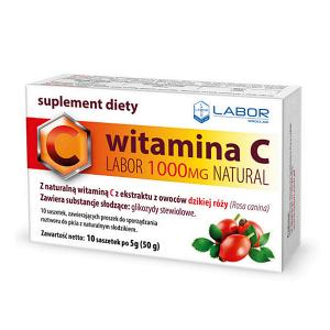 Witamina C LABOR 1000mg NATURAL saszetki x 10 szt.
