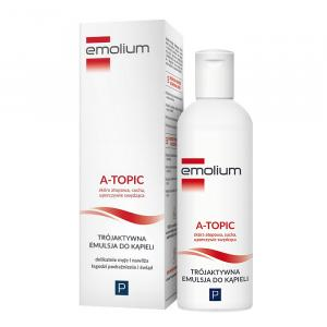 EMOLIUM A-TOPIC Trójaktywna Emulsja do kąpieli 200ml