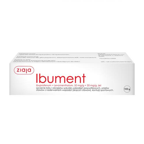 Ibument 50mg/g + 30mg/g żel 100g