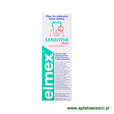 Płyn  Elmex  Sensitive do płukania jamy ustnej  400 ml