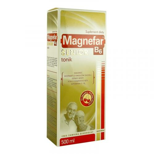 Magnefar B6 Senior Tonik płyn 500 ml